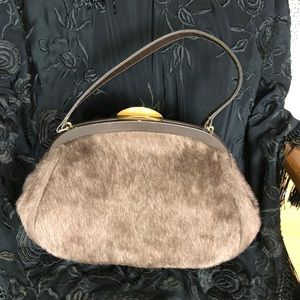 INGBER Bags - Vintage Faux fur purse